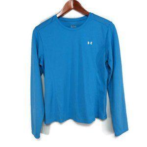 Under Armour Womens Medium Blue Long Sleeve Shirt